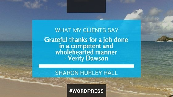 testimonials for Sharon Hurley Hall's work