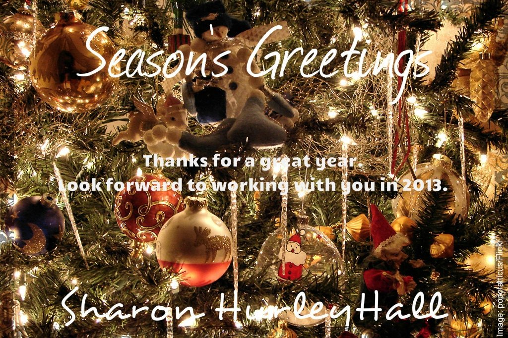 Season's Greetings from Sharon Hurley Hall