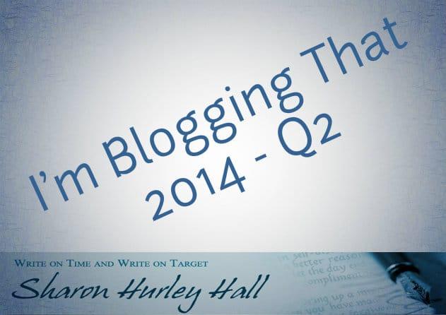 Blogging Update – Q2 2014