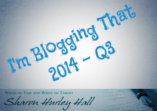 Sharon Hurley Hall's Blogging Portfolio - Q3 2014