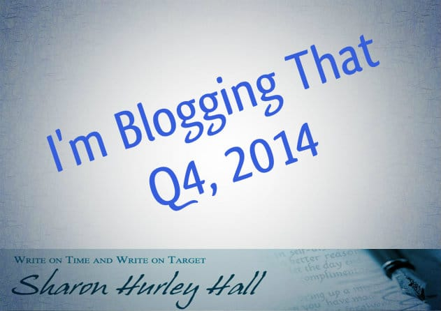 Blogging Update – Q4 2014