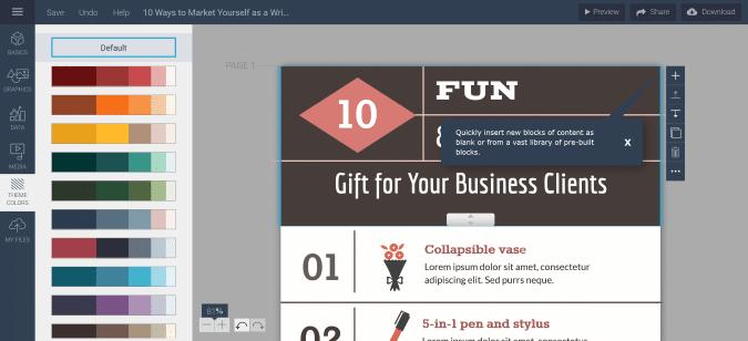 choose infographic template visme